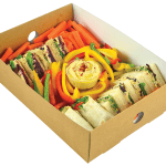 Eco-packaging compostable recycled low carbon half platter insert