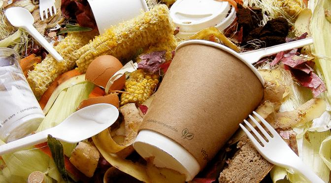 Vegware compost food waste compostable packaging
