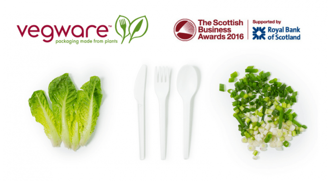 vegware eco packaging compostable plants scottish business awards 2016